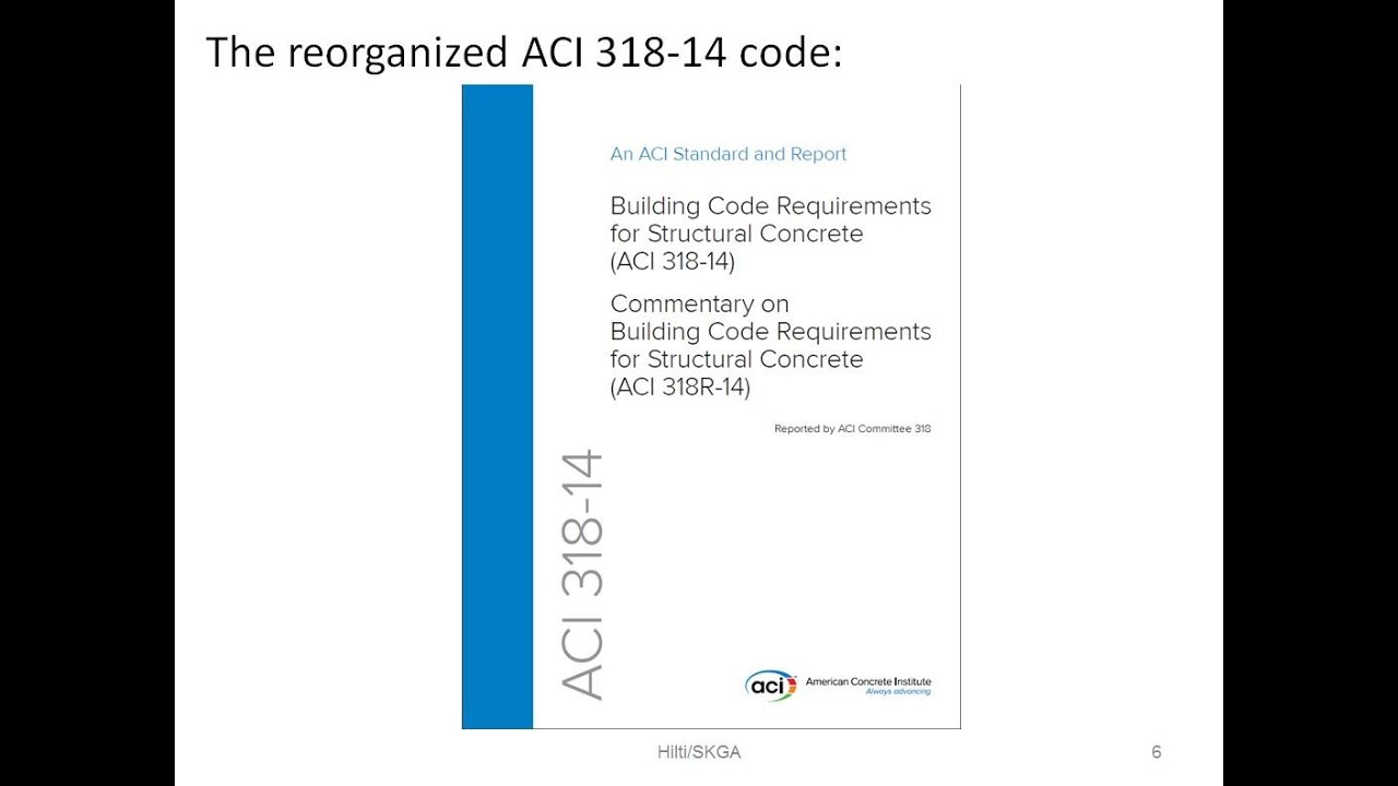 ACI 318-14 Chapter 17 - Anchoring to Concrete