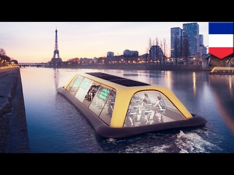 Paris navigation gym: floating gym uses human energy to cruise down the Seine river - TomoNews