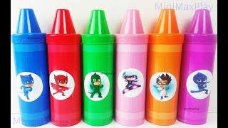 Learn Colors Pj Masks Crayons Sorting Play Doh Surprises Toys for Kids Nursery Rhymes