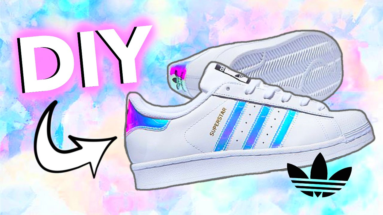 DIY HolographicIridescent Shoes! Adidas-Inspired! - YouTube