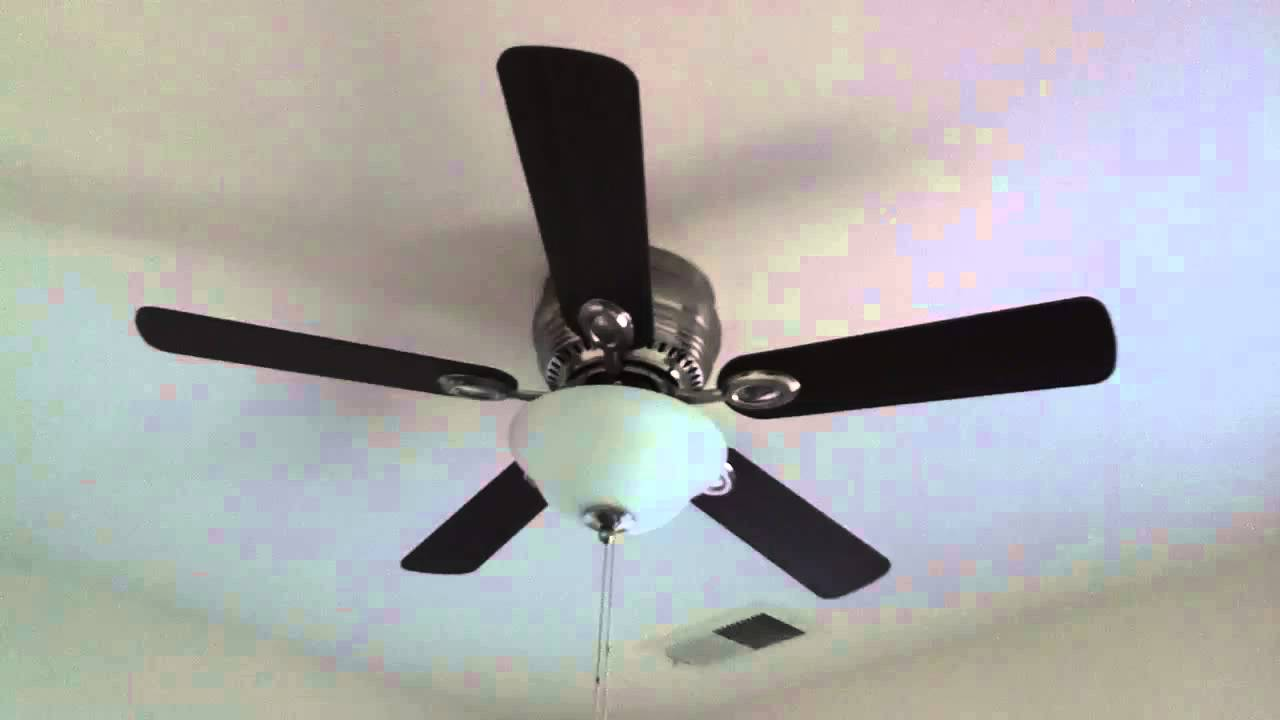 44u0026quot; Harbor Breeze Mayfield Ceiling Fan with Brushed Nickel Finish - AaronTheEagle1 Video - YouTube