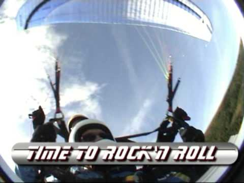 "Roger Andersen flying Paraglider Tandem w/Luis ""Mi..."