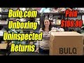 Bulq.com Unboxing Paid $100.00 Uninspected Returns Online Reselling