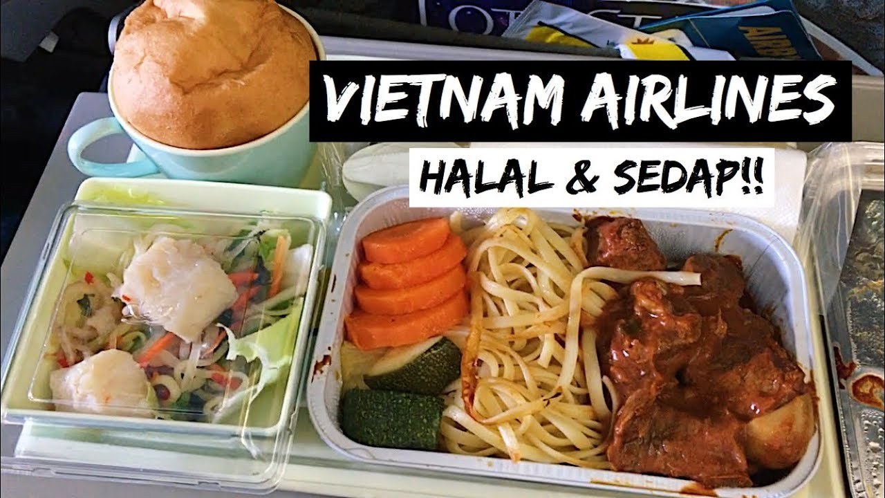 Makanan Flight Vietnam Airlines Ho Chi Minh Ke Kuala Lumpur Halal
