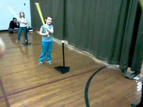 Hannah at tee-ball 02/28/2011