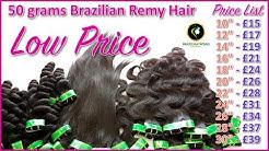50g Brazilian Remy Hair | Low Price High Quality Bundles