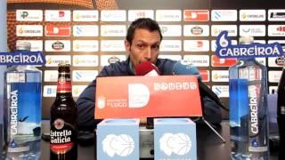 Video Natxo Lezkano na rolda de prensa previa Tau Castelló Cafés Candelas Breogán