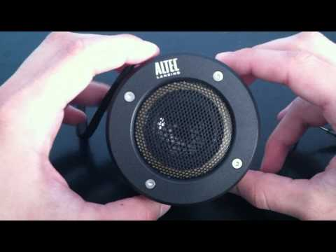 Altec Lansing iM227 Orbit Mp3 Speaker  REVIEW & SIZE COMPARISON