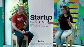 Séverine Chardonnens at Startup Grind Zurich, w/ David Butler