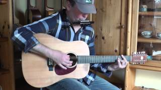 Easter Song - Keith Green (cover: 12-string guitar / harmonica)
