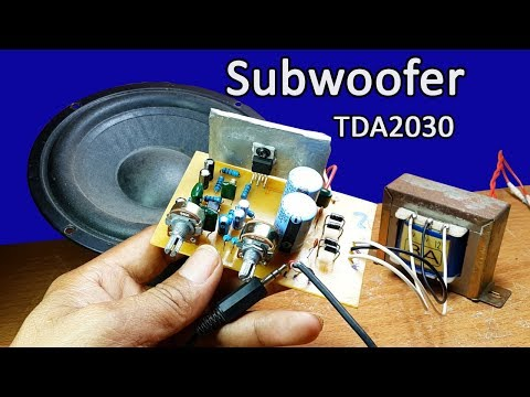 How to make nice sound subwoofer TDA2030 IC and 4558 IC circuit at home