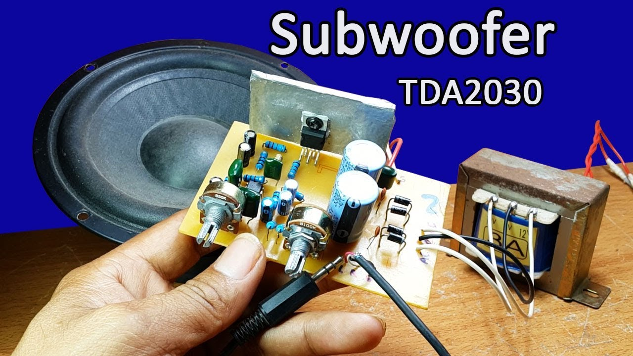 Car Audio Crossover Wiring Diagram Earthworm Worksheet How To Make Nice Sound Subwoofer Tda2030 Ic And 4558 Circuit At Home