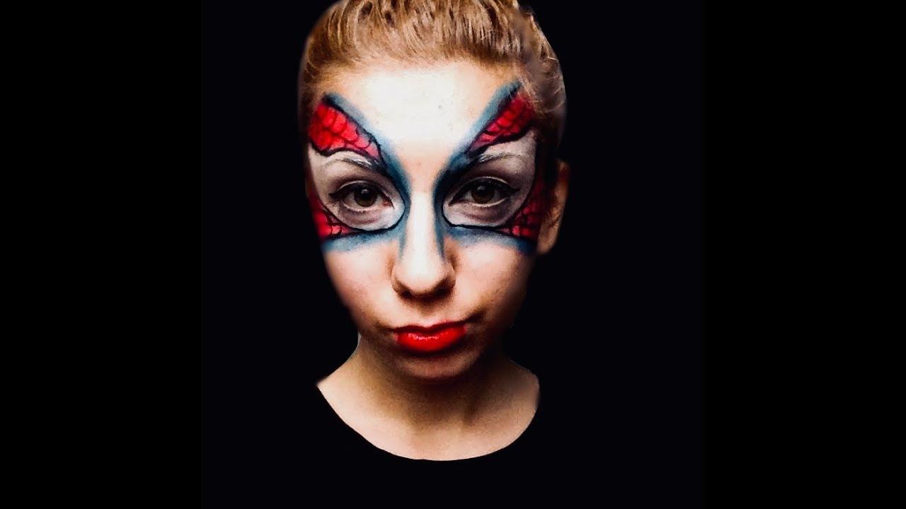 Spiderman (Theatre) Makeup Tutorial - YouTube