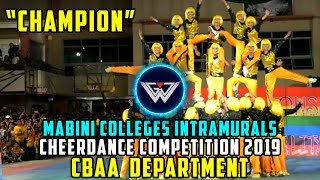 Mabini Colleges Intramurals 2019 Chions CBAA LIONS Cheerdance Competition 2019 Coverage 2