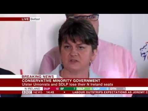DUP leader Arlene Foster on election result