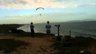 Paragliding off Highcliffe in Dorset Lips On Fire feat Princess Superstar - Agoria