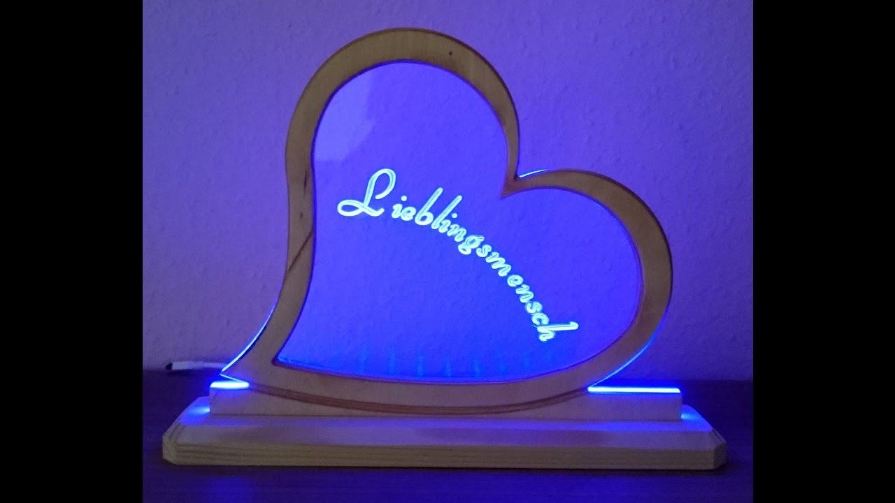 led aufsteller leuchtschild plexiglas gravieren cnc youtube. Black Bedroom Furniture Sets. Home Design Ideas