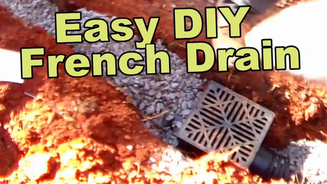 Easy French Drain Install DIY   YouTube