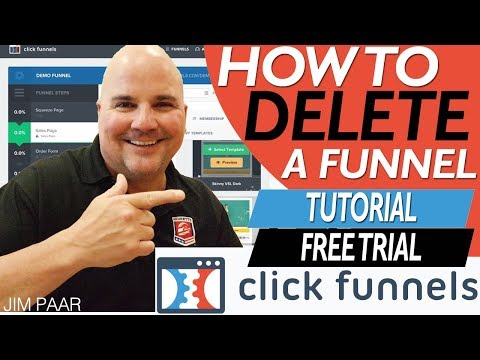 2019 CLICKFUNNELS TUTORIAL: How to Delete a Funnel in ClickFunnels