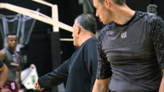 Frank Martin mic'd up during summer practice