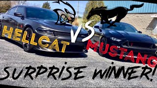 "DO I ""STANG"" A CHANCE? HELLCAT VS TUNED 2018 MUSTANG GT!!!"