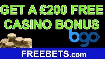 How To Claim A £200 Free Casino Bonus With BGO Vegas