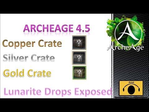 Archeage 4.5 Copper/Silver/Gold Crates Lunarite Drops Exposed