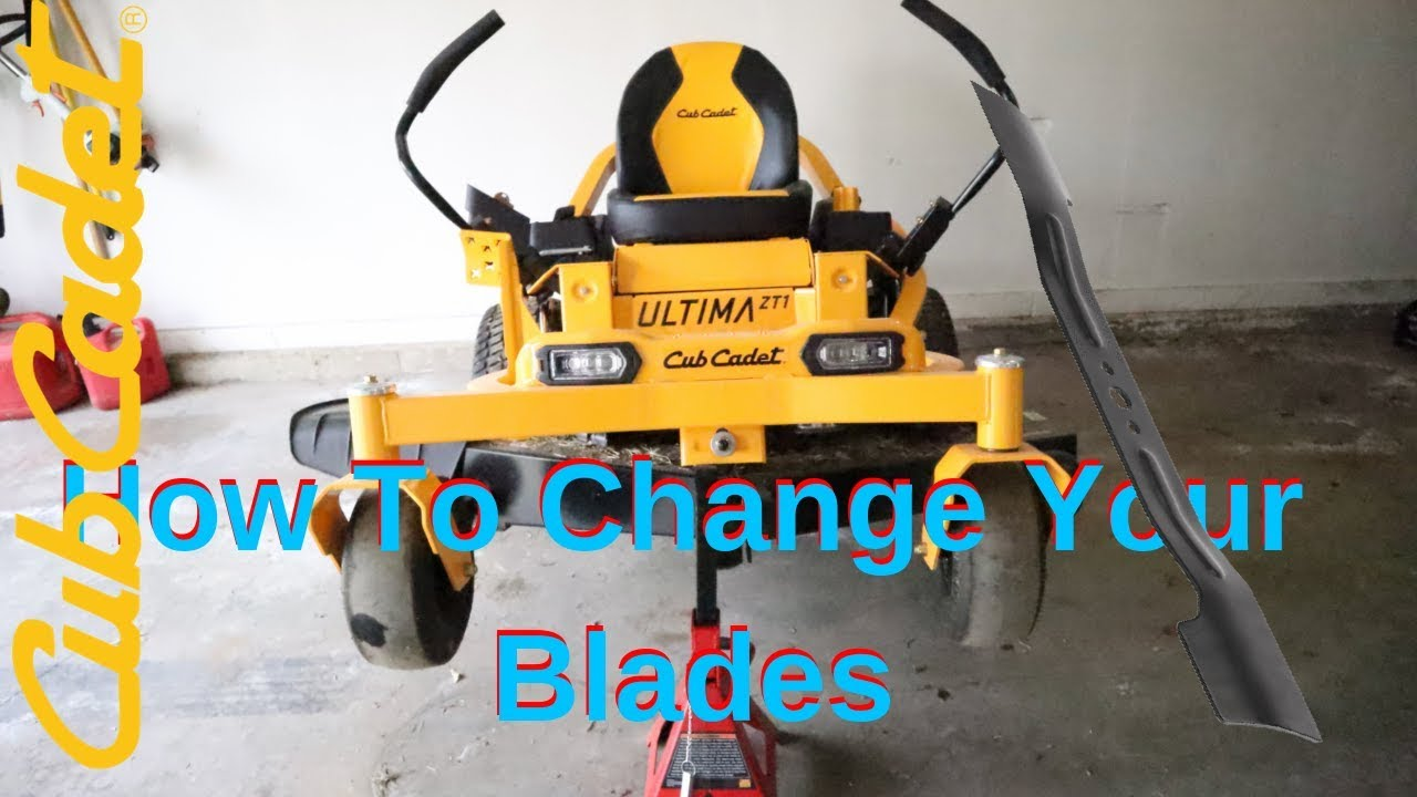 Cub Cadet Ultima ZT1 How To Change Blades