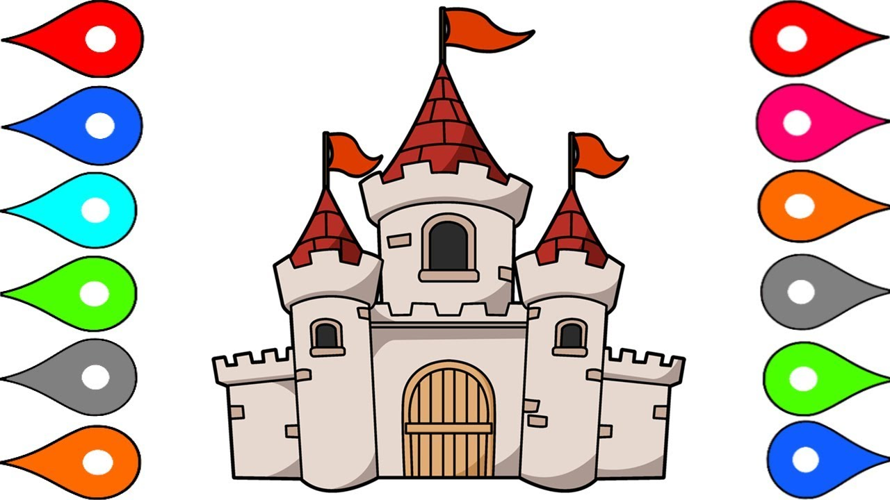 This is a graphic of Declarative Castle Cartoon Drawing