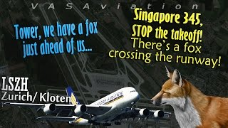 [REAL ATC] Singapore A380 forced to reject takeoff | FOX ON THE RWY!