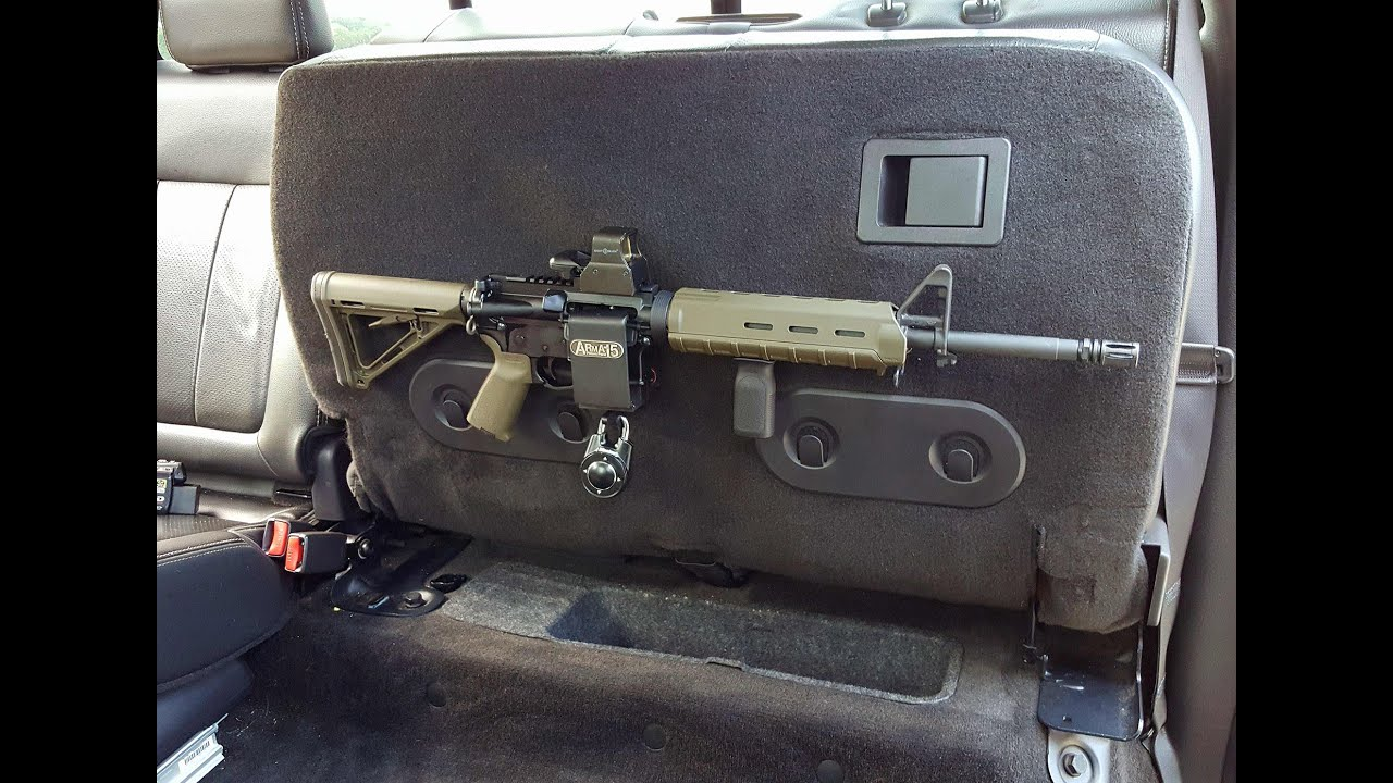 ARmA15 Installed in Truck under Rear Seat AR15 M4 Locking