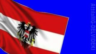 Blue Screen Austrian Flag HD