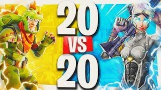 """NEW UPDATE! - Fortnite """"Teams of 20"""" GAMEMODE GAMEPLAY! - Fortnite Battle Royale Week 3 Challenges"""
