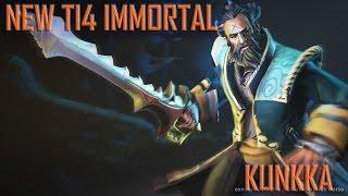 DOTA 2 -- NEW TI4 IMMORTALS: Kunkka (Inverse Bayonet)