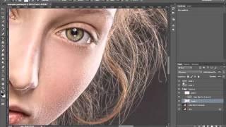 Простая портретная ретушь + Замена фона