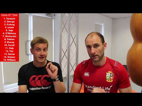 British & Irish Lions vs Hurricanes 2017- 2nd Test Selection- RugbyAnalyst