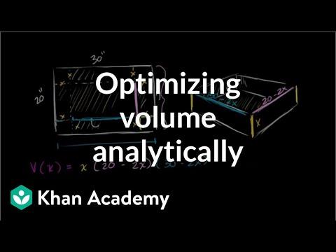 Optimizing box volume analytically