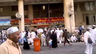 In the streets of Makkah going to Masjid Al-Haram sharif. Umrah Trip 2012.