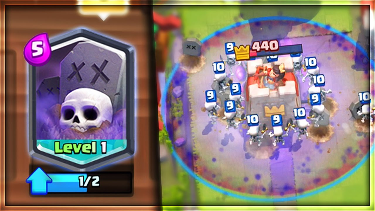 "Download OMG! NEW LEGENDARY ""GRAVEYARD"" SPELL! MOST UNBELIEVABLE SPELL in Clash Royale!"