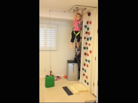 Lucky Lily- Toddler Climbing Wall w/ Counter Weight - YouTube