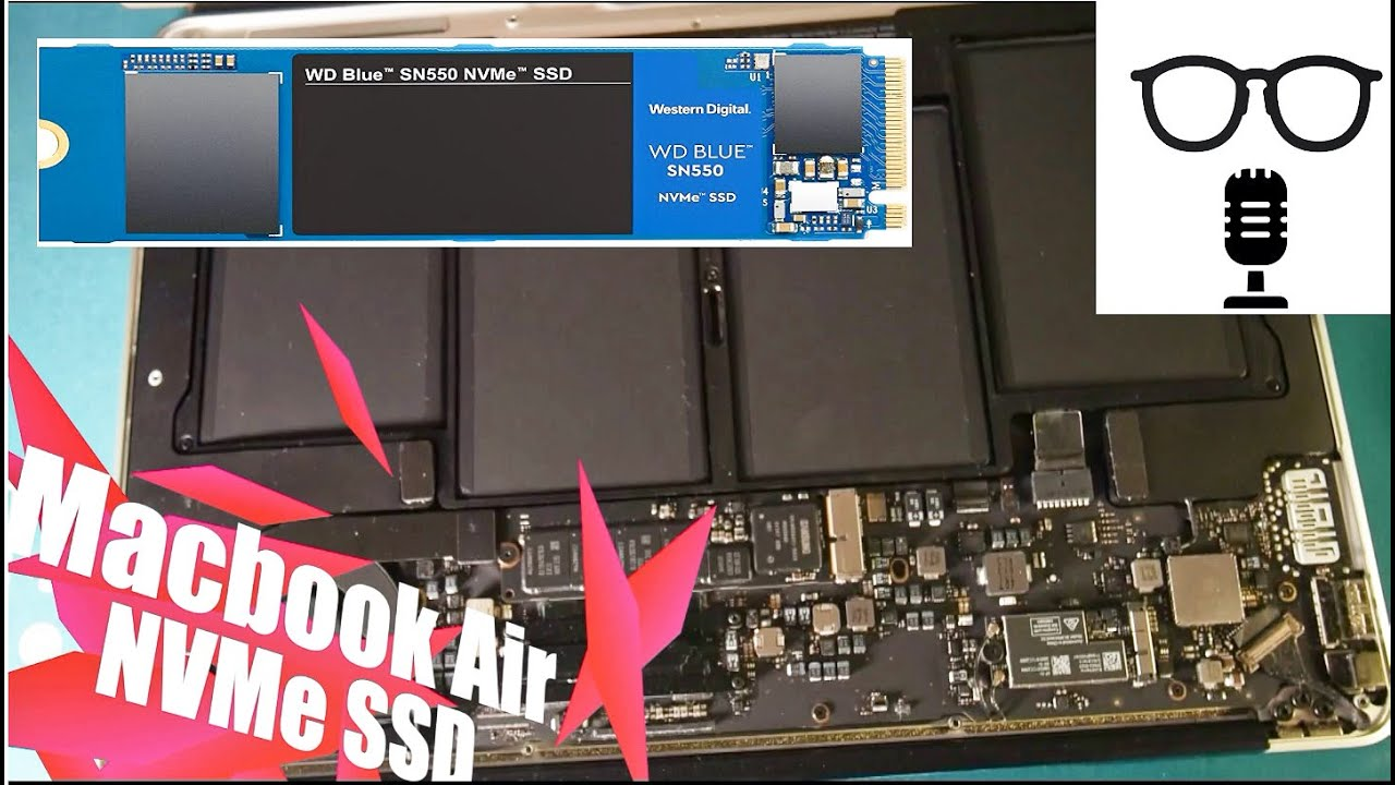 #Upgrade SN550 NVMe SSD for Macbook Air 2015 & WD Blue ...