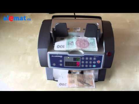 Počítačka bankovek AccuBanker AB-4000 MG/UV s magnetickou a UV detekcí