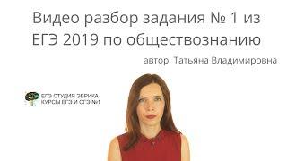 ПОДГОТОВКА К ЕГЭ 2019 общество 1 задание