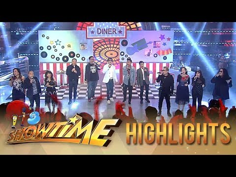 It's Showtime's throwback opening number with the Jukebox Royalty of the Philippines   It's Showtime