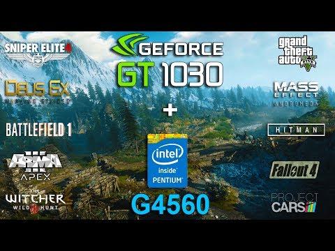 NVIDIA GT 1030 + Pentium G4560 Test in 10 Games