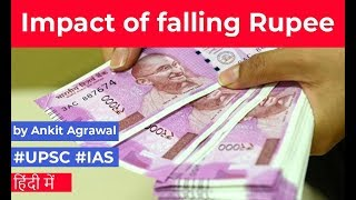 Rupee falls against US Dollar, Positive impact of Rupee fall on Indian Economy, Current Affairs 2019