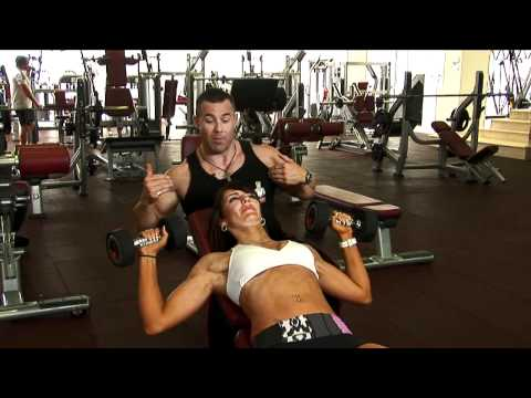 Ladies Incline Dumbbell Press Exercise