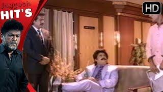 Hotel Manager Mistaken Jaggesh As Labour Officer | Jaggesh Kannada Movie Comedy Scenes