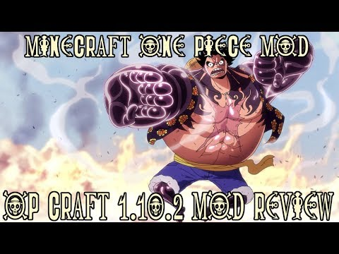DEVIL FRUITS, GEAR 4TH, MARINE FORT & MORE! || Minecraft OP Craft 1.10.2 Mod Review (One Piece Mod)