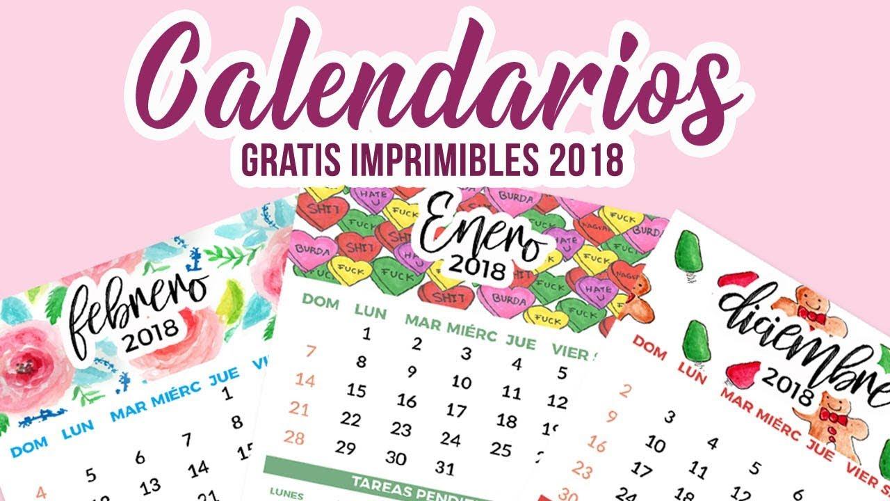 calendarios 2018 gratis imprimible free printables calendar 2018 del valle blog